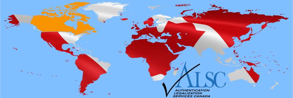 Canada Flag ALSC World Map