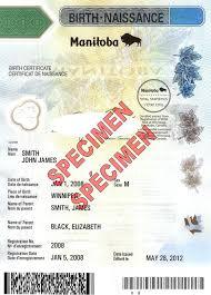 Manitoba Birth Certificate Authentication