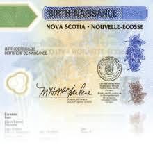 Nova Scotia Birth Certificate Authentication