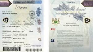 Ontario Birth Certificate Authentication