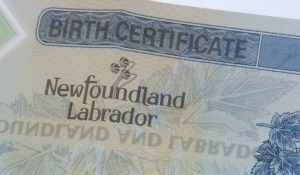 NFLD Birth Certificate Authentication