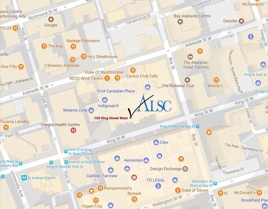 Toronto apostille authentication legalization services office map