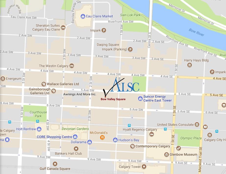 Calgary SC map